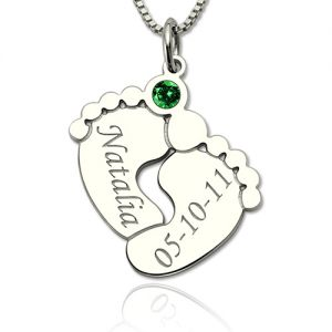First Mother's Day Necklace Gift with Baby's Name & Birth Date