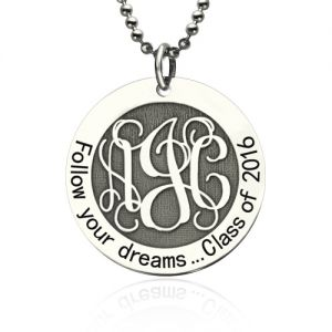 Personalized Class Graduation Monogram Necklace