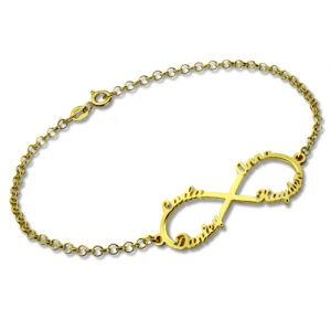 Personalized Infinity Four Names Bracelet In Gold