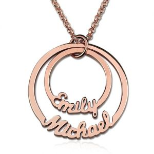 Two-Disc Names Necklace In Rose Gold