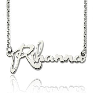 Personalized Celebrity Name Necklace Sterling Silver
