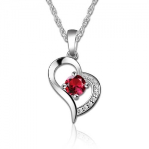 Only You Heart Necklace With Birthstone