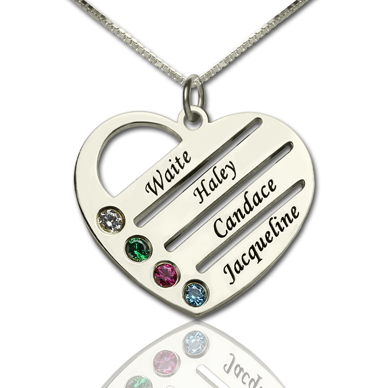 origine infinity gravure necklace pendants en name heart