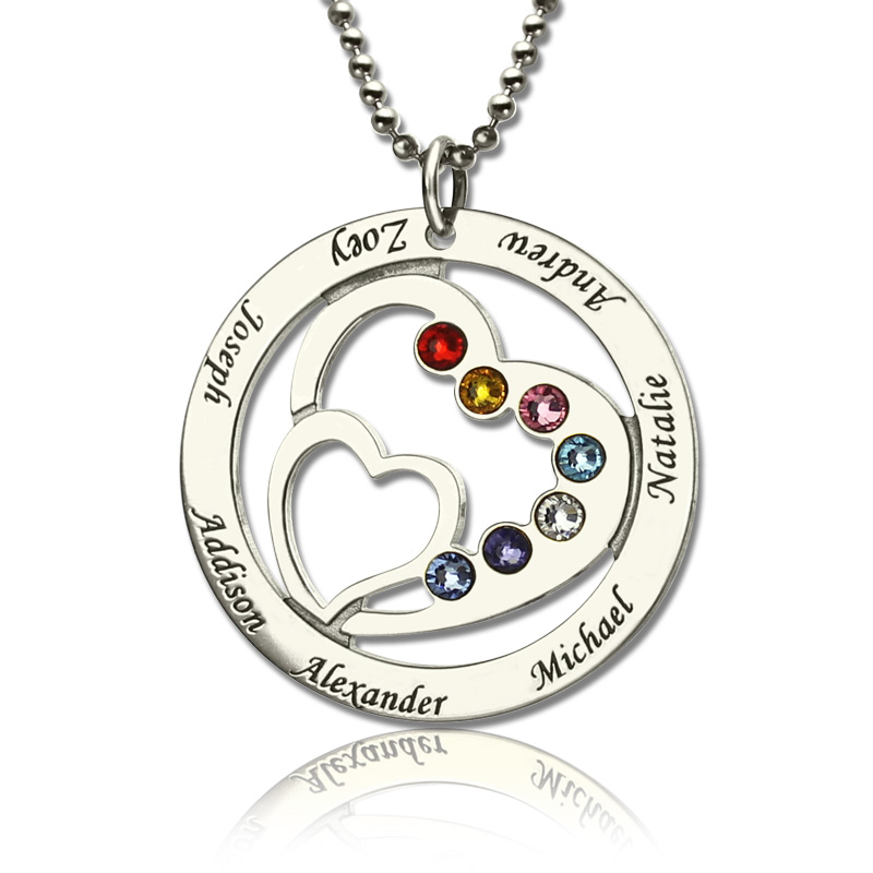grandma birthstone will necklaces love to grandkids belongs heart front necklace my grandmother pendant