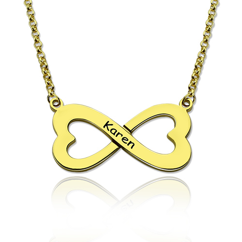 Customized gold infinity heart name necklace infinity pendant aloadofball Gallery