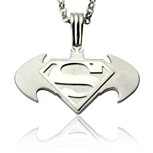 Personalized batman superman dawn of justice necklace gift mozeypictures Gallery