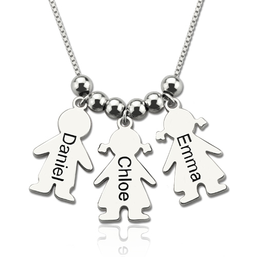 mother 39 s day gift personalized mother necklace with kids. Black Bedroom Furniture Sets. Home Design Ideas