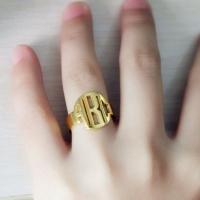 18K Gold Mongoram Ring