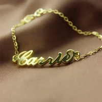 18K Gold Name Bracelet