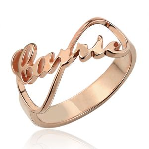 Customized Infinity Name Ring Rose Gold