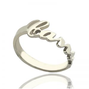 Fashionable Silver Carrie Name Ring Gift
