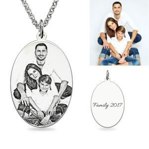 Buy personalized photo necklace at gnn up to 40 off custom oval engraved family photo necklace sterling silver aloadofball Images