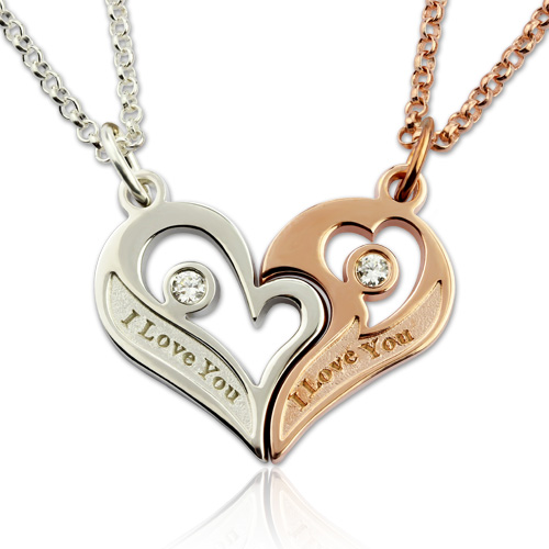 bddafe7293 Couple's Breakable Heart Love Necklace With Birthstones. $ 88.25 $ 52.95