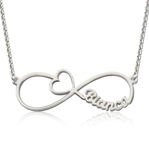 Arrow Infinity Symbol Necklace With Names Gift For Her