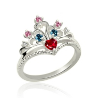 Multi-Stone Princess Crown Ring