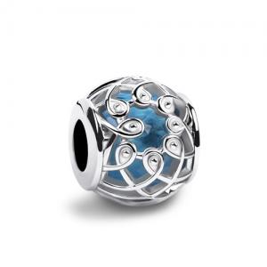 Blue Crystal Bead