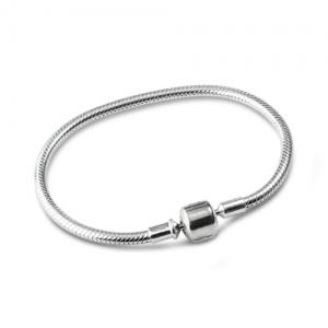 Snake Chain Clasp Bracelet Sterling Silver 925