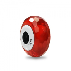Red Shimmer Murano Glass Charm