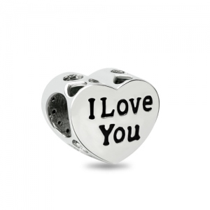 Love Heart Crystal Charm