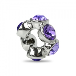 Appealing Light Purple Birthstone Charm