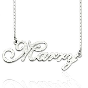 CNC Cursive Style Name Necklace Sterling Silver