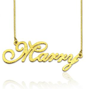 CNC Cursive Style Name Necklace Gold Plated Silver