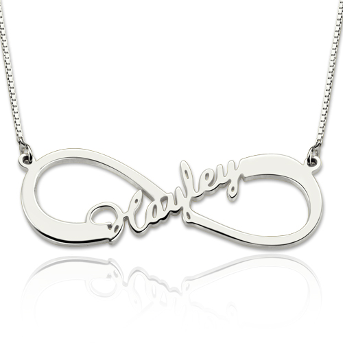 necklace rose gold infinity names plated necklaces name with