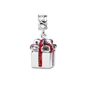 Klassicher Aussehen Geschenkbox-Charm Sterling Silber 925