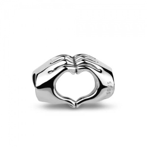 Sterling Silver Gesture Of Love Heart Charm
