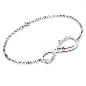 Sterling Silver Anniversary Bracelet Cut Out Name