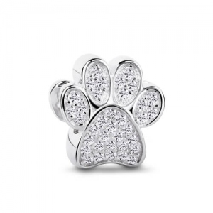 Sterling Silver Dog Paw Charm for Dog Lovers