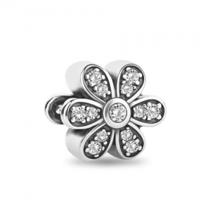 Sterling Silver Daisies Bead Simple Yet Decorative