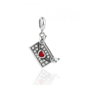 Sterling Silver Antique Style Envelope Charm