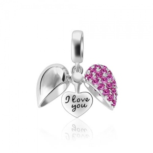 Secret Love Heart Shaped Charm Sterling Silver
