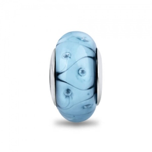 Light Blue Murano Glass Bead