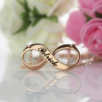 Rose Gold Engraved Infinity Name Necklace