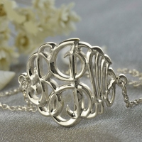 Sterling Silver Monogram Bracelet Hand-painted