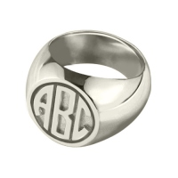 Valentine's Day Signet Ring Gifts for Men with Block Monogram