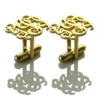 Gold Monogram Cufflinks
