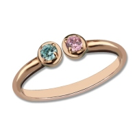 dual birthstones ring