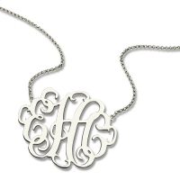 unique monogram necklace