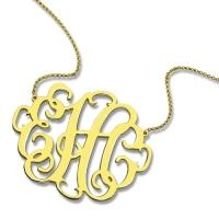 unique monogram necklace