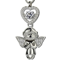 angel necklace with diamonds
