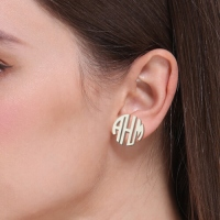 monogram earring
