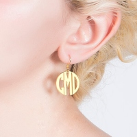 monogram earrings