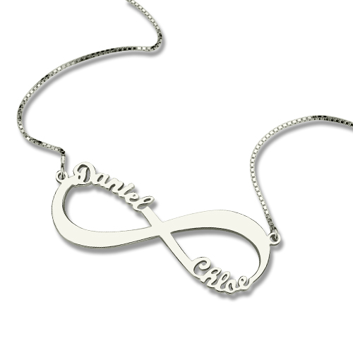 Mothers Day Gifts Infinity Symbol Necklace Cut Out Name