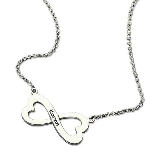 dp silver large sterling shaped medium quot necklace com heart amazon open pendant