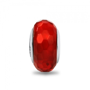 red glass charm