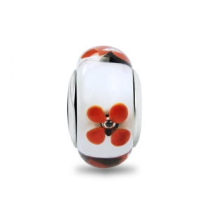 flower murano glass bead