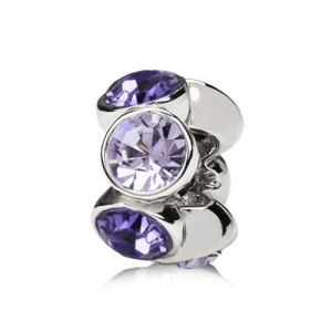 Lavender and Light Purple Birthstone Charm